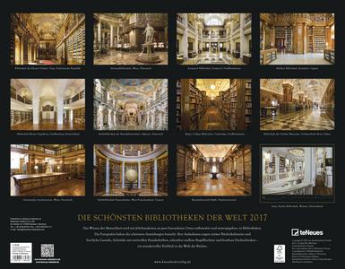 Cartoleria Calendario 2017 Knesebeck. Die schönsten Bibliotheken der Welt TeNeues 1