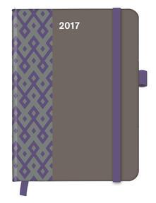 Agenda 2017 CoolDiaries Pattern 16x22. Stone