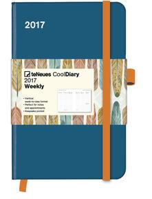 Agenda 2017 CoolDiaries 9x14. Petrol-Feather