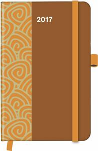 Agenda 2017 CoolDiaries Pattern 9x14. Saddle Brown