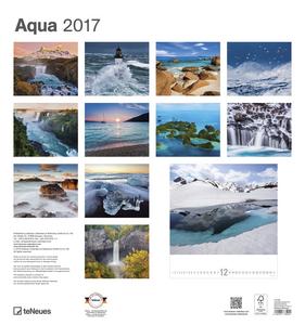 Cartoleria Calendario 2017 Art & Photo 45x48. Aqua TeNeues 1