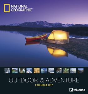 Cartoleria Calendario 2017 Art & Photo 45x48. National Geographic Outdoor & Adventure TeNeues 0