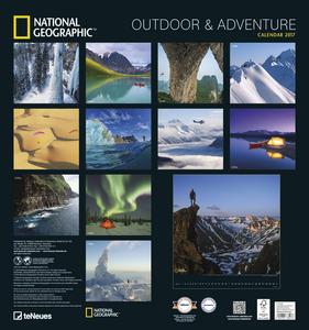 Cartoleria Calendario 2017 Art & Photo 45x48. National Geographic Outdoor & Adventure TeNeues 1