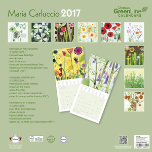 Cartoleria Calendario 2017 GreenLine 30x30. Maria Carluccio TeNeues 1