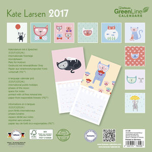Cartoleria Calendario 2017 GreenLine Mini 17,5x17,5. Kate Larsen TeNeues 1