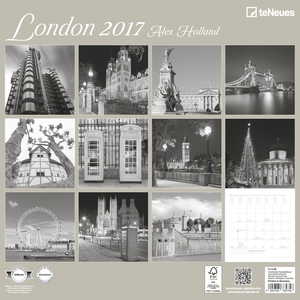 Cartoleria Calendario 2017 Photography 30x30. London TeNeues 1
