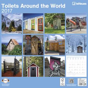 Cartoleria Calendario 2017 Life Style 30x30. Toilets Around the World TeNeues 1