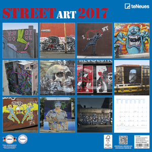 Cartoleria Calendario 2017 Life Style 30x30. Street Art TeNeues 1