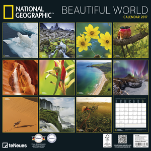 Cartoleria Calendario 2017 Photography 30x30. National Geographic Beautiful World TeNeues 1
