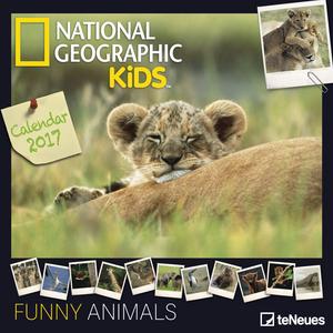 Cartoleria Calendario 2017 Photography 30x30. National Geographic Funny Animals TeNeues 0