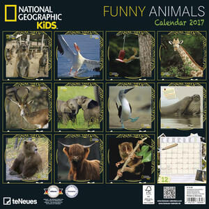 Calendario 2017 Photography 30x30. National Geographic Funny Animals - 2