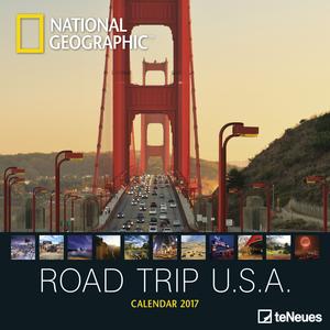 Cartoleria Calendario 2017 Photography 30x30. National Geographic Road Trip USA TeNeues 0