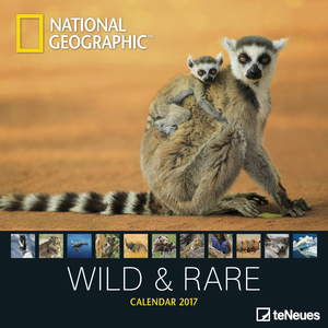 Cartoleria Calendario 2017 Photography 30x30. National Geographic Wild & Rare TeNeues 0
