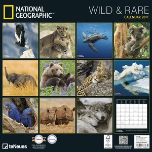 Cartoleria Calendario 2017 Photography 30x30. National Geographic Wild & Rare TeNeues 1
