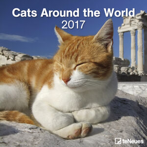 Cartoleria Calendario 2017 Life Style 30x30. Cats Around the World TeNeues 0