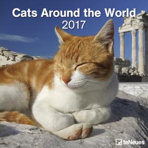 Cartoleria Calendario 2017 Life Style 30x30. Cats Around the World TeNeues 0
