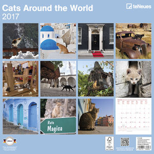 Cartoleria Calendario 2017 Life Style 30x30. Cats Around the World TeNeues 1