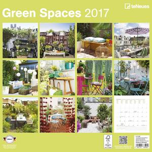 Cartoleria Calendario 2017 Photography 30x30. Green Spaces TeNeues 1
