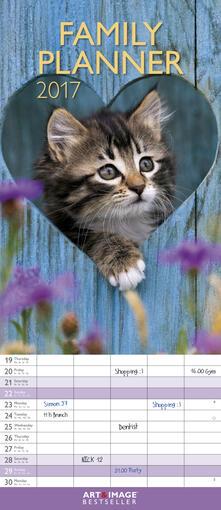 Calendario 2017 Art & Image Family Planner 19,5x45. Kittens