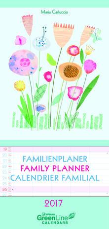 Calendario 2017 GreenLine Family Planner 23x48. Maria Carluccio