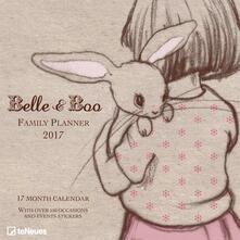 Calendario 2017 Family Planner 30x30. Belle & Boo