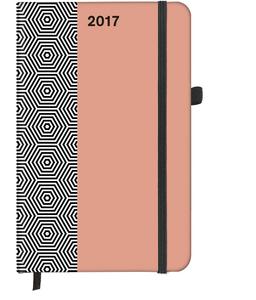 Cartoleria Agenda 2017 SoftTouch 3D Pattern 9x14. Hexagon TeNeues