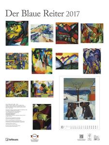 Cartoleria Calendario 2017 Poster. Der Blaue Reiter TeNeues 1