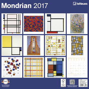 Cartoleria Calendario 2017 Fine Arts 30x30. Mondrian TeNeues 1