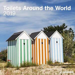 Calendario 2019 TeNeues 30 x 30. Toilets Around the World. Bagni da tutto il mondo
