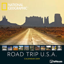Calendario 2019 TeNeues 30 x 30. Road Trip USA. National Geographic