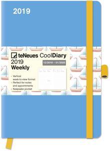 Diario 2018-2019, 14 mesi, TeNeues Cool Diaries large. Azzurro e barche