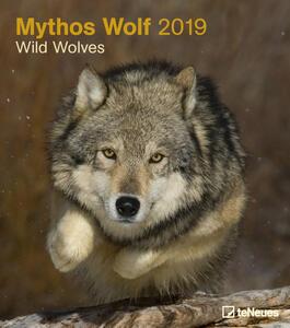 Calendario da muro 2019 TeNeues 30 x 34. Wild Wolves. Lupi selvaggi