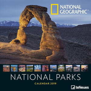 Calendario 2019 TeNeues 30 x 30. National Parks. Parchi Nazionali. National Geographic