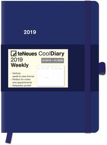 Diario 2018-2019, 14 mesi, TeNeues Cool Diaries large. Blu