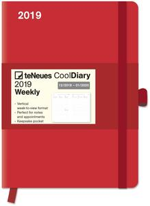 Diario 2018-2019, 14 mesi, TeNeues Cool Diaries large. Rosso