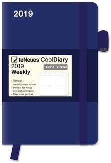 Diario 2018-2019, 14 mesi, TeNeues Cool Diaries medium. Blu