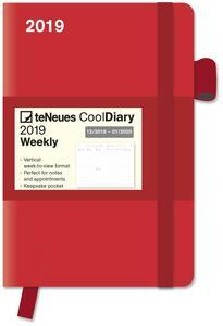 Diario 2018-2019, 14 mesi, TeNeues Cool Diaries medium. Rosso