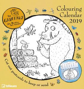 Calendario da colorare 2019 TeNeues. Colouring Gruffalo