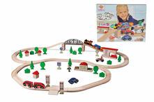 Eichhorn Pista Treno Con Ponte Sospeso Cm.440 Inclusi 2 Treni. 1 A Batteria E 89Pz Accessori