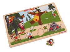 Giocattolo Puzzle in legno 11 pezzi Masha e Orso Eichhorn