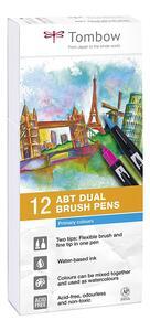 Pennarelli acquarellabili Dual Brush Tombow. Confezione 10+2 colori primari - 7