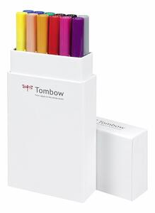 Pennarelli acquarellabili Dual Brush Tombow. Confezione 10+2 colori primari - 9