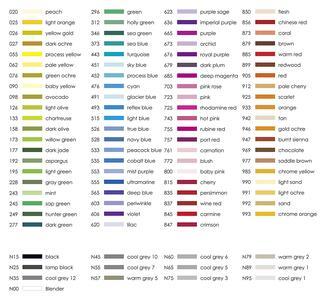 Pennarelli acquarellabili Dual Brush Tombow. Confezione 15+3 colori primari - 12