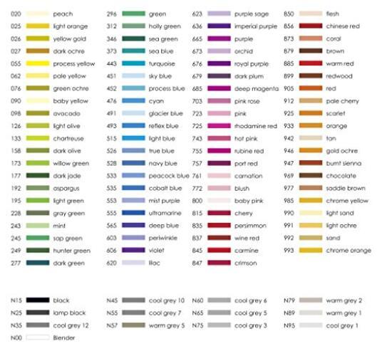 Pennarelli acquarellabili Dual Brush Tombow. Confezione 15+3 colori primari - 6