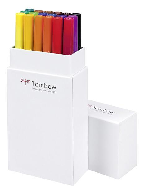 Pennarelli acquarellabili Dual Brush Tombow. Confezione 15+3 colori primari - 9