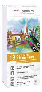 Pennarelli acquarellabili Dual Brush Tombow. Confezione 15+3 colori secondari - 7