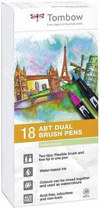 Pennarelli acquarellabili Dual Brush Tombow. Confezione 15+3 colori pastello - 2