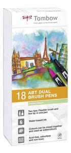 Pennarelli acquarellabili Dual Brush Tombow. Confezione 15+3 colori pastello - 8