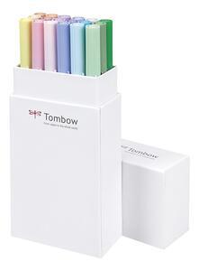 Pennarelli acquarellabili Dual Brush Tombow. Confezione 15+3 colori pastello - 10