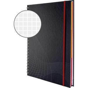Avery Zweckform 7025 blocco note cover rigida notizio, rilegatura a spirale a quadretti, DIN A4, 90 g/m², 90 fogli,